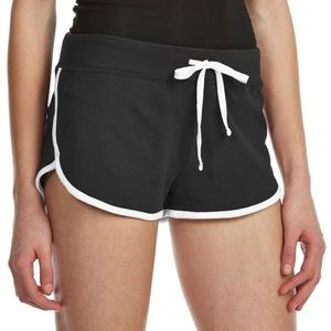 AMBIANCE Juniors' Contrast-Trim Dolphin Shorts
